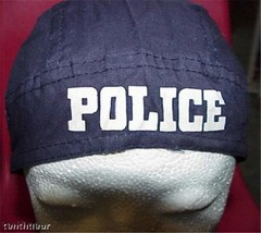 "Skull Cap "" Police "" Doo Rag / Dew Rag - $4.95"