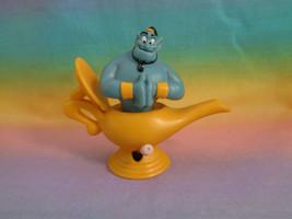 Vintage 1992 Burger King Disney Aladdin Genie in Lamp on Wheels Wind-up Toy  - $1.55