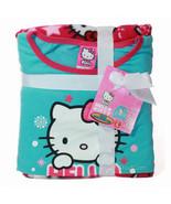NWT Hello Kitty 2pc Girl Pajama Fleece PJ Top Pants Cozy Blue Pink Sleep... - $24.99