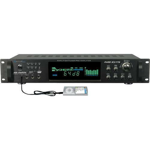 Technical Pro  H3502urbt 3500 W Hybrid Amplifier Bluetooth Receiver Tuner Preamp