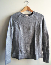 GAP Women's Metallic Shimmer Sweater, 100% Cotton, Silver, Size S, Pre-owned - $26.99