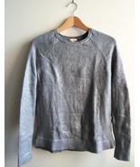 GAP Women's Metallic Shimmer Sweater, 100% Cotton, Silver, Size S, Pre-o... - $24.29