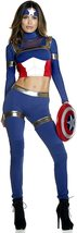 Fine Fighter Sexy Foreplay Captain America Comic Book Hero Deluxe Costume image 3