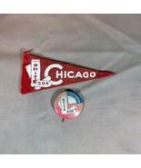 Chicago White Sox ca 1950's Mini Felt Pennant and Pinback - $21.49