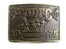 1975 National Finals Rodeo HESSTON Belt Buckle By LEWIS BUCKLES 9817 - $54.44