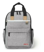 Skip Hop DUO DIAPER BACKPACK - GREY MELANGE Baby Changing Bag Mummy Back... - $79.99