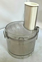 Cuisinart Basic Food Processor BOWL & LID +Pusher REPLACEMENT Clear VGUC  - $62.84