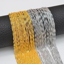 Anniyo 50pcs/Lot,45CM/50CM/60CM/80CM Wholesale Water-Wave Chain Thin Nec... - $58.16+