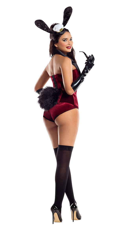 Starline Boss Bunny Sexy Velvet Bodysuit Adult Womens Halloween Costume S8051