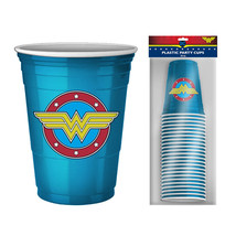 Wonder Woman 20 Pack Disposable Cups Blue - $16.98