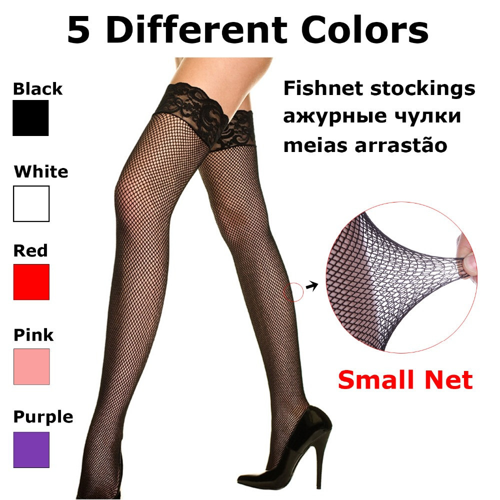 Women's Stockings, high stretched with lace lingerie hosiery
