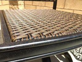 Outdoor wicker bar stool with arms set of 6 Santa Clara cast aluminum Dark Bronz image 3