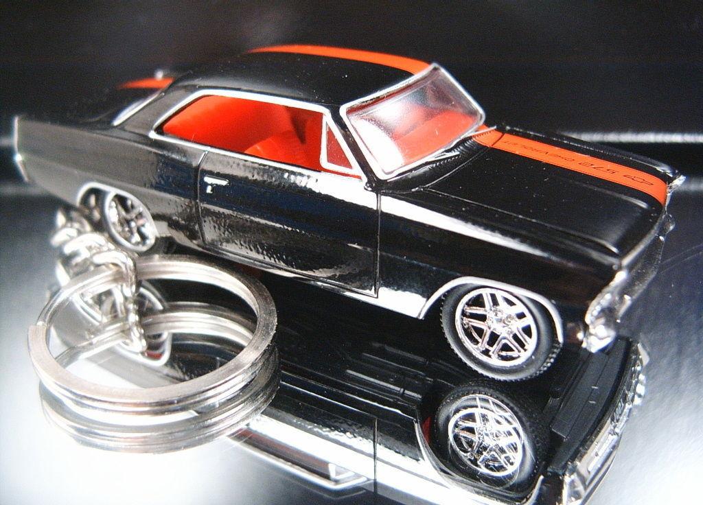 1967 Chevrolet Nova SS Gold Key Chain Ring Fob Keychain