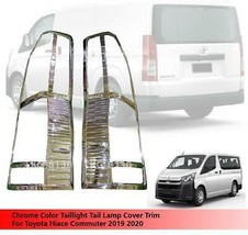 Chrome Tail Lamp Taillight Cover Trim For Toyota Hiace Commuter 2019 2020 - $57.66