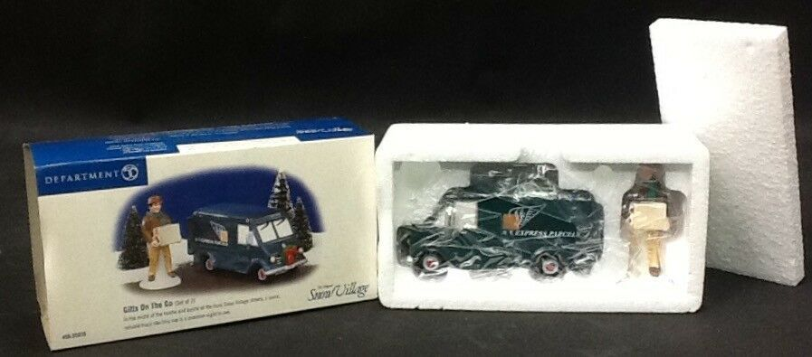 "Primary image for Department 56 Snow Village ""Gifts on the Go"" NEW"
