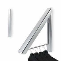 Clothes Hanger Wall Mounted Washing Line Coat Shirt Dryer Folding Pull O... - $21.06