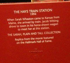 Hallmark Sarah Plain and Tall Collection The Hays Train Station 1994 AA-191768B image 4