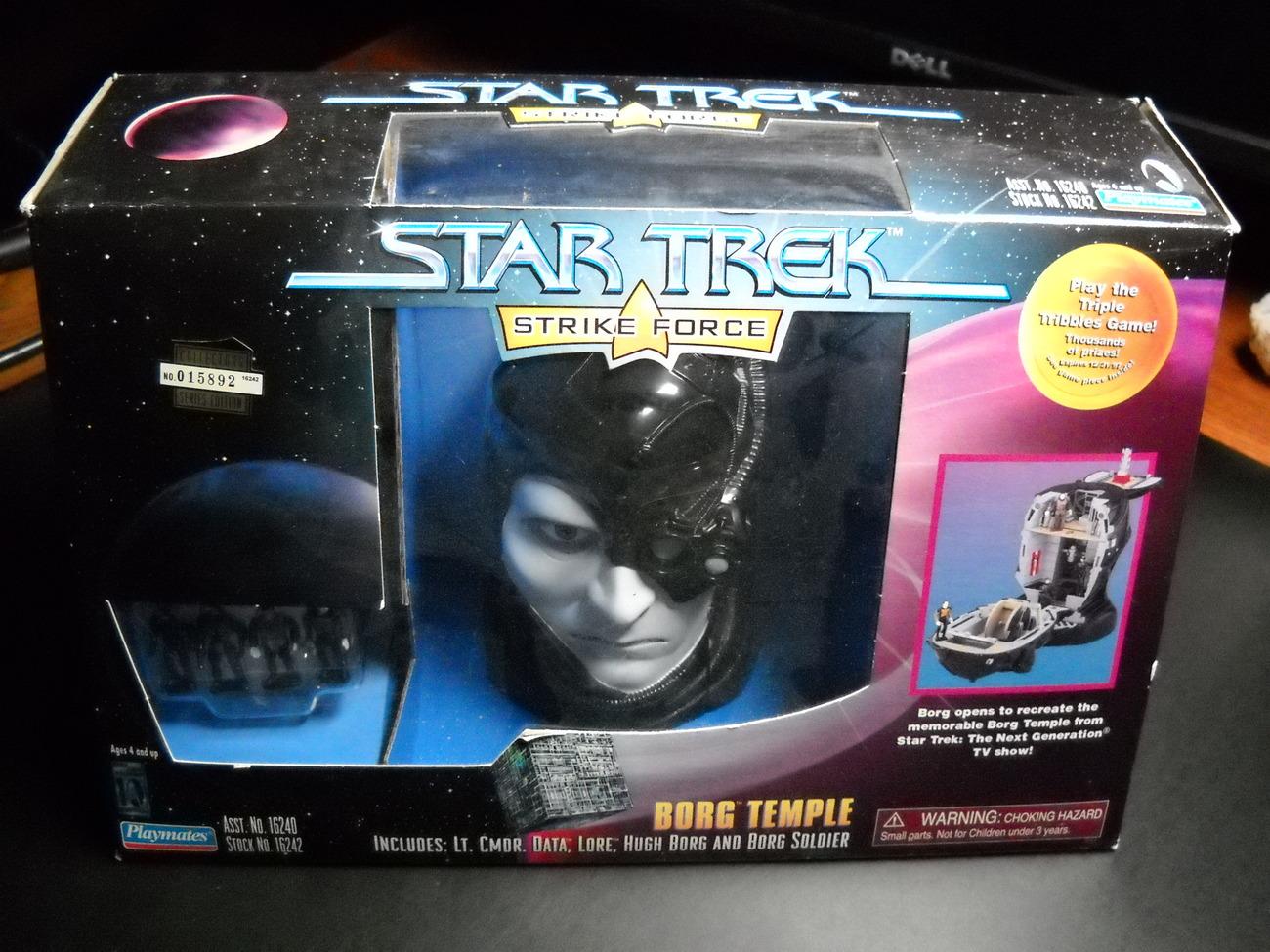 Toy star trek playmates strike force borg temple 1997 moc 01