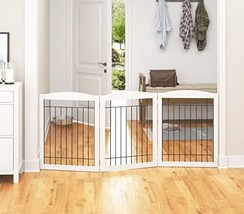 PAWLAND Extra Wide Dog gate for The House, Doorway, Stairs, Freestanding... - $93.24
