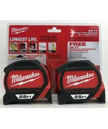 Milwaukee - 48-22-7125G - 25 ft. Premium Magnetic Tape Measure -Twin Pack - $59.35