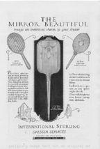 1924 International Silver Dresser Mirrors Vintage Ad - $2.50