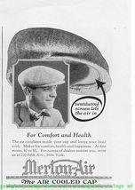 1924 Merton-Air The Air Cooled Cap 2 Vintage Print Ads - $2.50