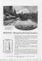 1924 Seattle Vacation 2 Vintage Magazine Print Ads - $3.50
