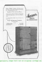 1924 Seeger Siphon Refrigerators 2 Vintage Print Ads - $2.50