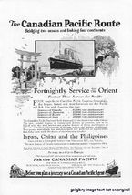 1922 Canadian Pacific Cruise Ship  Vintage Print Ad - $2.50