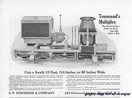 1922 Townsend's Multiplex 12' Mower Vintage Print Ad - $2.50