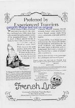 1923 French Line, Great White Fleet 2 Vintage Print Ads - $2.50