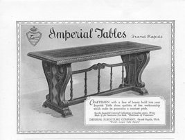 1925 Imperial Table Grand Rapids 3 Vintage Print Ads - $3.50