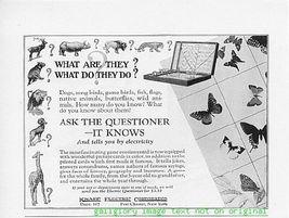 1925 Knapp Electric Corporation Game Vintage Print Ad - $2.50