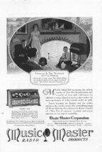 1925 Music Master Radio Vintage Magazine Print Ad - $2.50