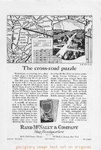 1925 Rand McNally & Co Maps 2 Vintage Print Ads - $2.50