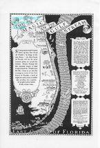 1926 Florida East Coast 2 Vintage Hotel Print Ads - $3.50