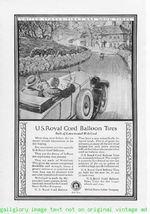 1924 U.S. Royal Tires 5 Vintage Magazine Print Ads - $4.50