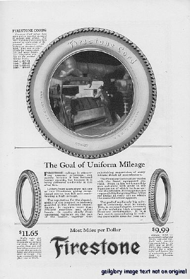 1922 Firestone US Royal Tires 3 Vintage Print Ads
