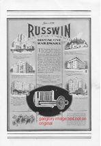 1926 Russwin & Corbin Hardware 2 Vintage Print Ads - $3.50