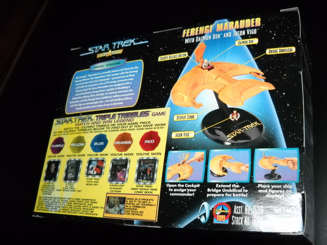 Star Trek Strike Force Series Ferengi Marauder 1997 Sealed in Box Playmates