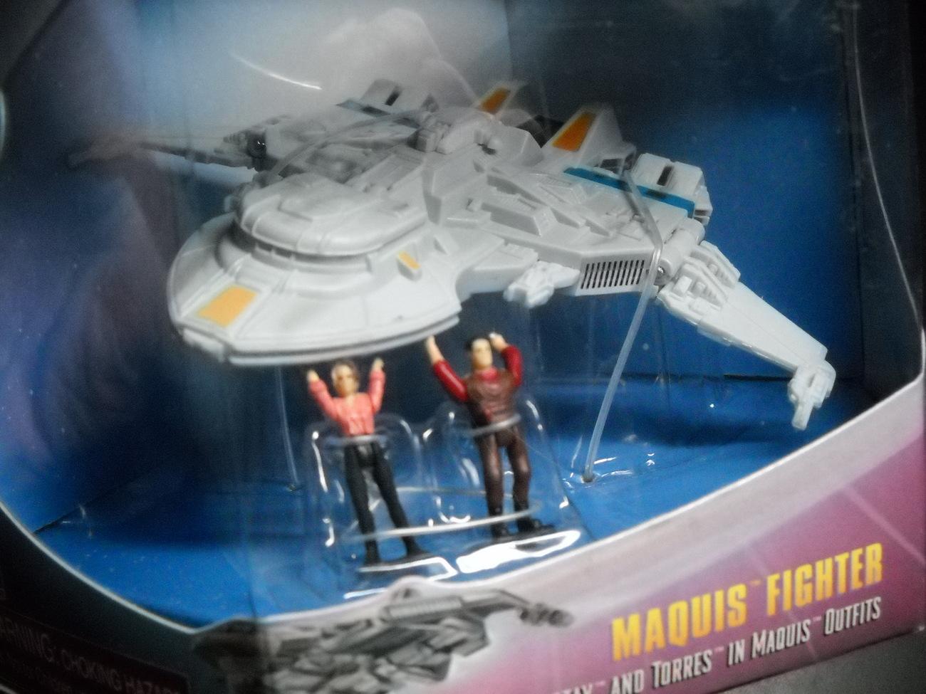 Toy star trek playmates strike force uss marquis fighter 1997 mib sealed 06