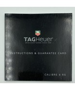 TAG Heuer Calibre 6 RS Instructions Manual & Guarantee Card - $12.99