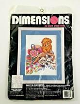 Dimensions Puppy & Playmates No Count Cross Stitch Kit #3984 10 x 13 Car... - $14.95