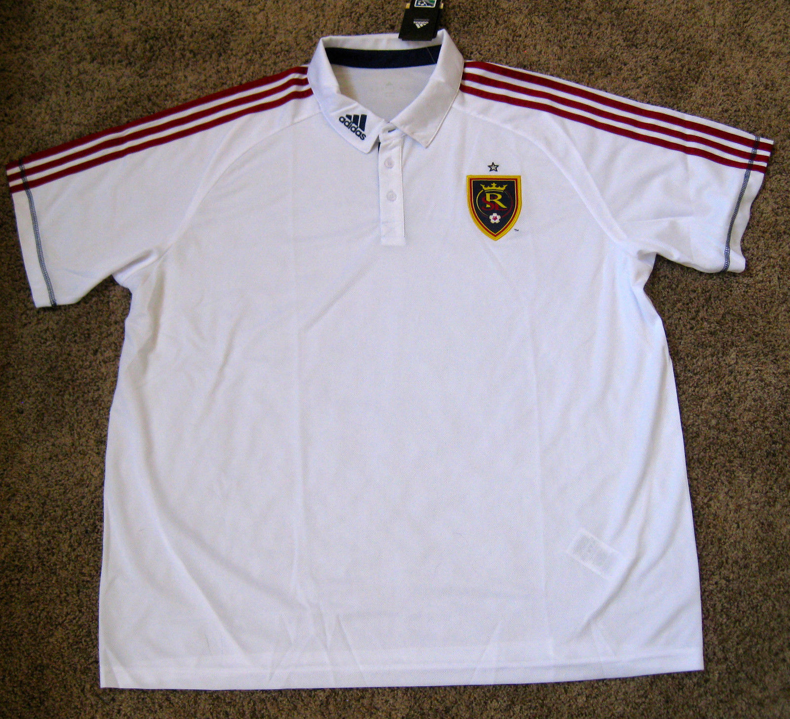 Adidas Rsl Real Salt Lake Soccer Jersey Polo and 50 similar items. S l1600 ab58b1e08