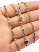 925 Sterling Silver - Vintage Multi-Gemstone Love Hearts Chain Necklace ... - $31.49