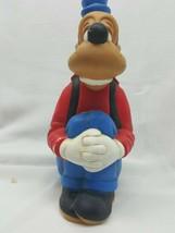 "GOOFY Sitting Ceramic Figure 9"" Vintage Walt Disney  Hand Painted Red AED81 - $11.95"