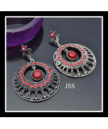 Red Crystal Stud Earrings Beauties - $14.00
