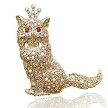 RechicGu Egyptian Bastet Gold Cat Kitten Pet Crown Tiara Hat Tie Lapel S... - $8.99