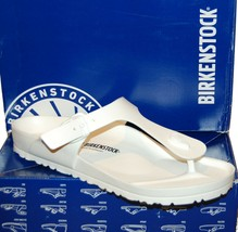 Birkenstock EVA Arizona Gizeh Madrid Men's White Flip Flop Sandal Sz US ... - $39.59