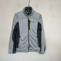 The North Face Fleece Jacket Men's S Gray Light Weight Full Zip Jacket - $35.27